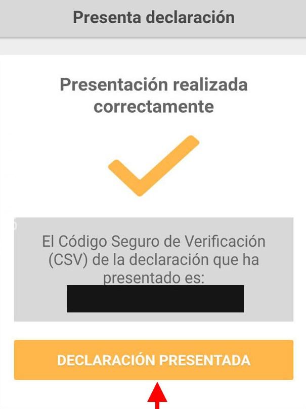 presentación correcta declaración renta app móvil