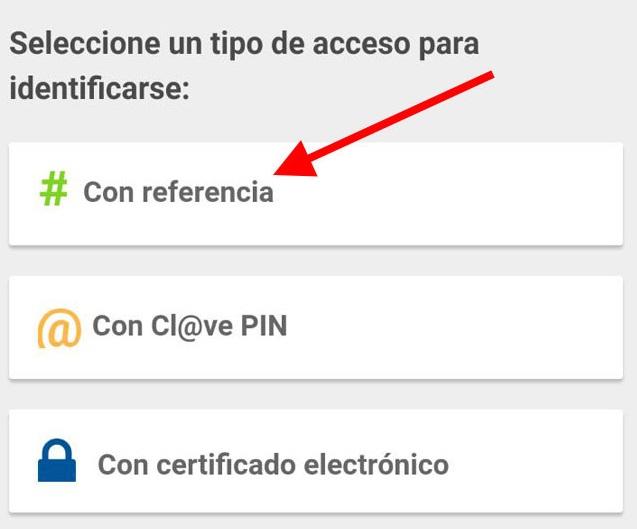 tipo acceso identificación app móvil declaración renta