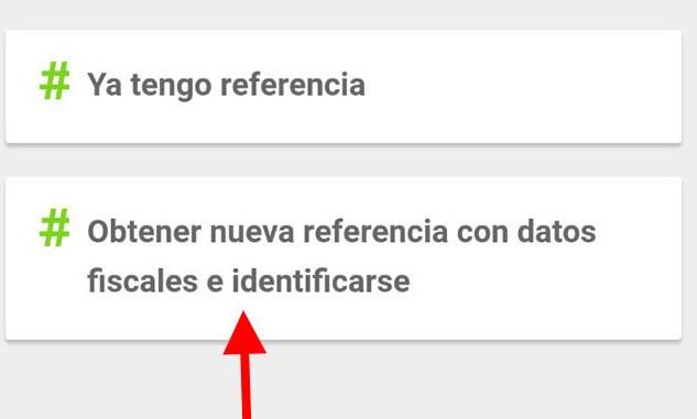 obtención nueva referencia declaración renta app móvil
