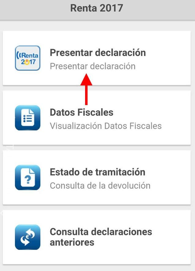 presentar declaración renta app móvil