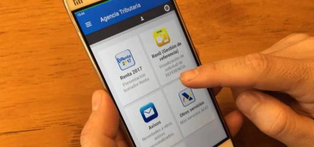 Declarar la renta con la app
