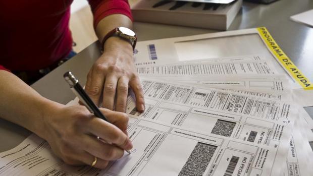 Declaración de la renta papeleo
